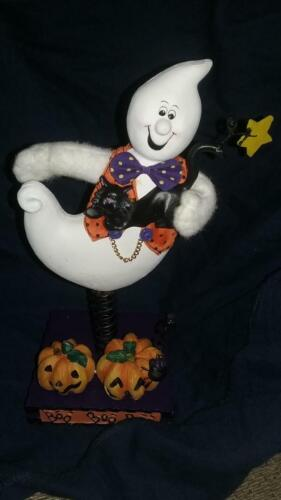 *GHOST* HALLOWEEN COIL SPRINGY RESIN STANDEE FIGURE Avon Halloween New/Boxed