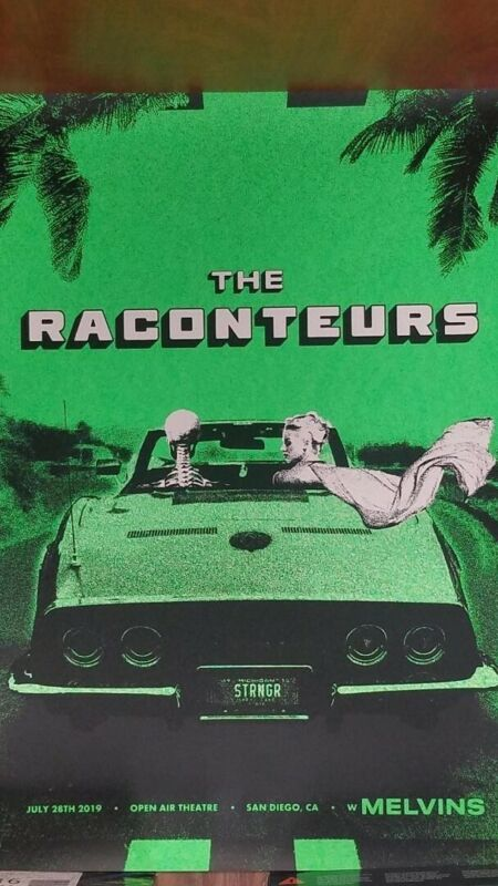 **NEW** THE RACONTEURS  with THE MELVINS  san diego 2019 poster/lithograph