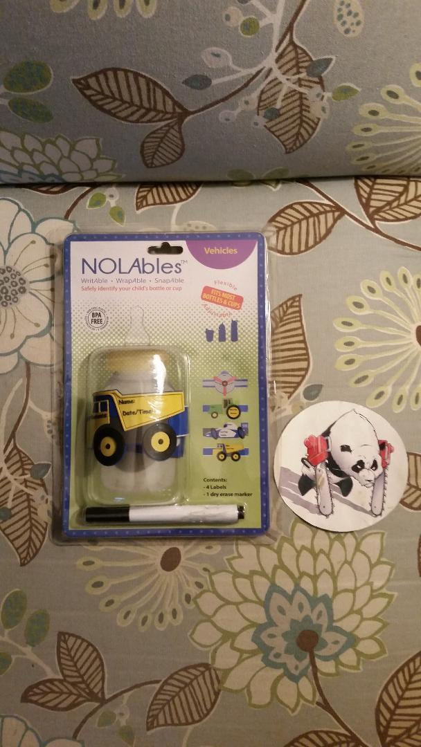 NOLabels Vehicles Reusable Write on Labels for Sippy Cups /