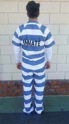 Jail Prison Penitentiary Inmate Jumpsuit clothing Black & White Stripe - Prison Costumes