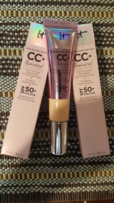 IT Cosmetics CC+ Cream (Medium) Your Skin but better Illumination SPF 50. NIB.