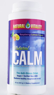 Natural Vitality - Natural Calm Anti-Stress Drink - Raspberry Lemon - 16 oz ()
