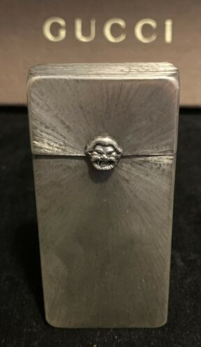 GUCCI Vintage Brushed Silver Box - Must See Gorgeous Piece!