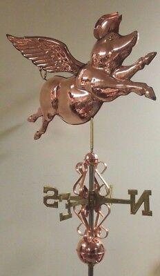 - Beautiful copper 3-D  FLYING PIG weathervane, COMPLETE SETUP + mount