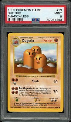 Pokemon PSA 9 Shadowless Dugtrio 19 Base Set Non-Holo Rare