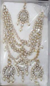 Indian pak woman imitation jewellery necklace earrings jhumka jh