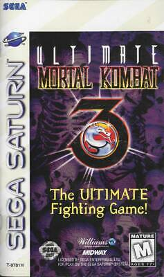 Ultimate Mortal Kombat 3 Sega Saturn Great Condition Fast Shipping comprar usado  Enviando para Brazil
