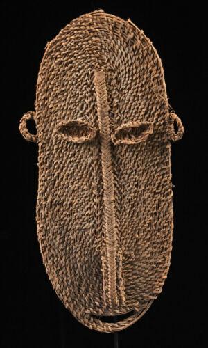 Gable mask from blackwater, tribal basketwork, oceanic tribal, papua new guinea