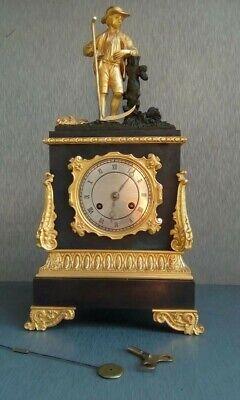 FRENCH EMPIRE ORMOLU AND BRONZE MANTEL CLOCK 1810