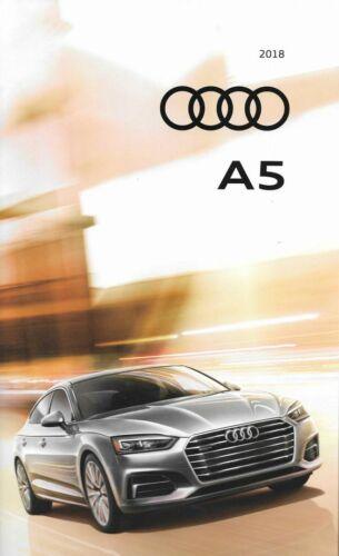 2018 18  Audi  A5  original sales  brochure  MINT