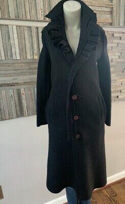Comme Des Garçons Black Wool Jacket Full Length Size Small
