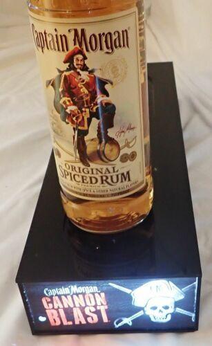 NEW Captain Morgan Cammon Blast Lighted Bottle Glorifier Shelf