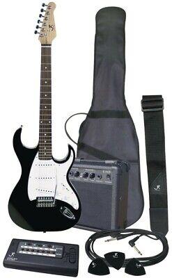 J Reynolds JRPAK6B Electric Guitar Starter Pack, Black