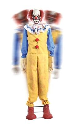 Evil Clown Decorations (Twitching Clown Animated Prop Evil Lifesize 5 Ft Haunted House)