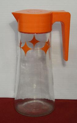 Tang Instant Breakfast Drink Orange Starburst Atomic Glass Pitcher - Nostalgic