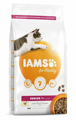 Iams Vitality Senior Cat Food With Fresh Chicken 800g