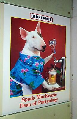 SPUDS MACKENZIE Dean of Partyology  Vintage Poster
