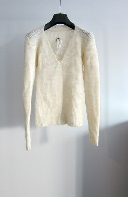 Used, LABEL UNDER CONSTRUCTION CASHMERE 3D KNIT LONGSLEEVE POELL HARNDEN (BEIGE, 42) for sale  San Diego