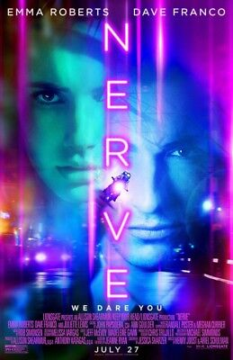 Nerve Movie Poster 2 Sided Original Final 27X40 Dave Franco Emma Roberts