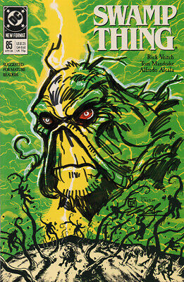DC Remarked Comic Swamp Thing Ink Drawing by Tim Shinn