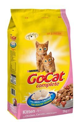 Go-Cat Kitten With Chicken Milk & Vegetables Dry Cat Food 2Kg