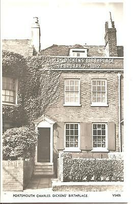 LOVELY VINTAGE POSTCARD,PORTSMOUTH,CHARLES DICKEN'S BIRTHPLACE,HAMPSHIRE,RP