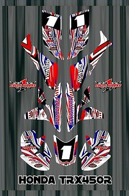 TRX 450R graphics Honda 450 ATV sticker kit FREE Semi Custom Service SE4