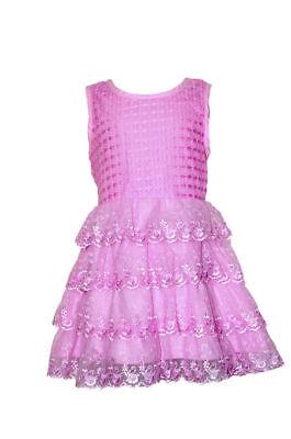 Kleid für kleine Prinzessin Rosa  Farbe Sommer Party Ärmelloss Kleid ()