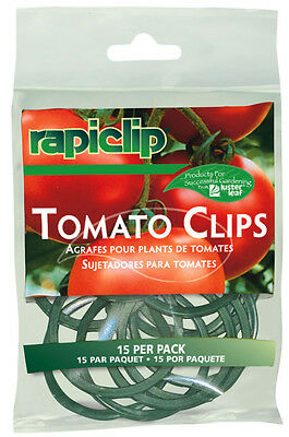 RAPITEST RAPICLIP TOMATO FLOWER PLANT VINE HOLDER CLIPS 15 PACK