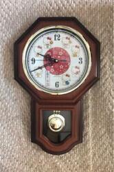 Hello Kitty Wall clock Pendulum clock Japanese pattern Sanrio wooden H19inch