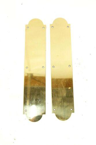 Mirrored Brass Push Plates Set of 2 Polished Finish Art Deco Style