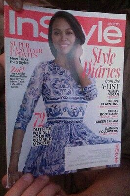 Instyle Magazine July 2015 Zoe Saldana Style Diaries Yummy Vegan Bridal Boot