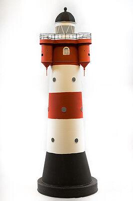 Leuchtturm ROTER SAND Metall Garten wetterfest 110cm Leuchtturmmodell Nordsee