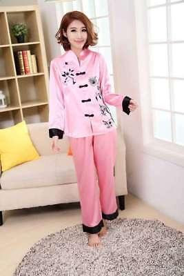 Oriental Chinese Kimono Style Satin Pyjamas ( LONG - Oriental Chinese Kostüm