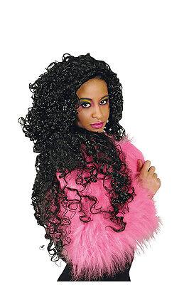 Perücke Ramona Langhaar Locken Flamencokostüm Afro Griechin Kostüm Kleid - Afro Haar Perücke Kostüm