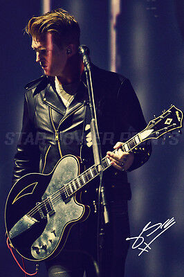 JOSH HOMME PRE SIGNED PHOTO PRINT - 12 X 8 INCH  EAGLES OF DEATH METAL - N.O 2