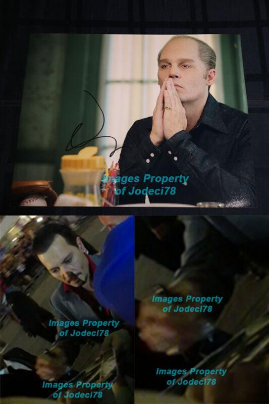 Johnny Depp Signed 11x14 BLACK MASS Photo EXACT PROOF Pirates Grindelwald