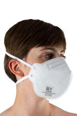 FFP2 NR D Atemschutzmaske HY8220 Feinstaubmaske Mundschutz Hygiene 20 Stück