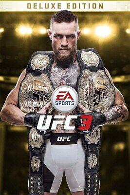 UFC 3 Deluxe Edition (Xbox One, 2018) NO DISC, READ DESCRIPTION comprar usado  Enviando para Brazil