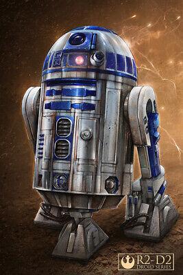 Star Wars R2D2 Droid Art Wall Indoor Room Outdoor Poster - POSTER 24x36