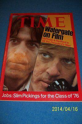 1976 TIME Magazine ALL THE PRESIDENTS MEN Robert REDFORD Dustin HOFFMAN No Label