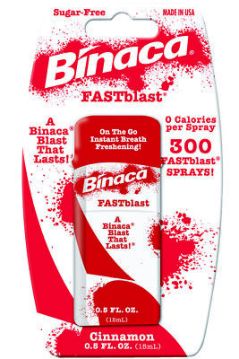 Binaca Fast Blast Breath Spray - 6 x BINACA FASTBLAST (Cinammon) -  Fresh Breath Spray Blasts Away Bad Breath