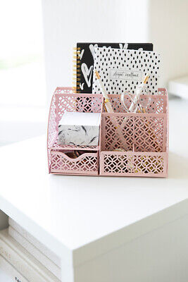 Blu Monaco Light Pink Desk Organizer With Drawer