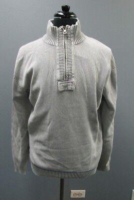 WEATHERPROOF Vintage Gray Half Zip Long Sleeve Solid Sweater NWT Sz XL GG0289 Weatherproof Adult Zip Sleeve