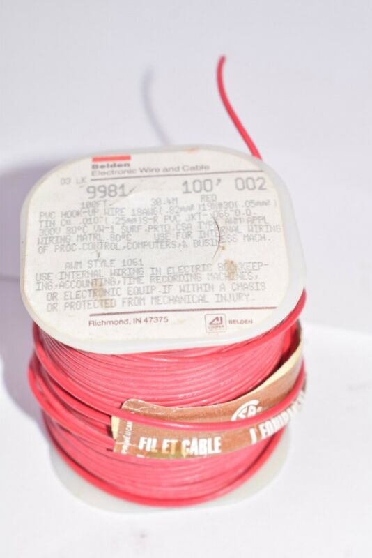 NEW Belden Electronic Wire and Cable Type: 9981, 100