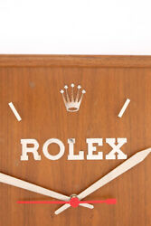 Very nice ROLEX xxl dealer wall clock from the 1960s