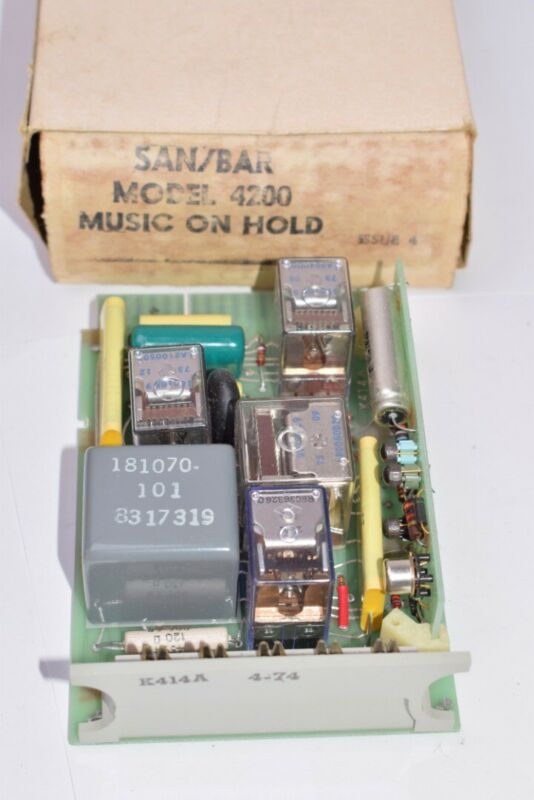 NEW Vintage SAN/BAR Model: 4200 Music On Hold Circuit Board