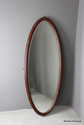 Large Oval Antique Edwardian Wall Mirror