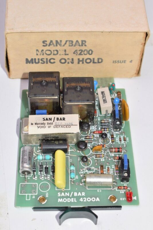 NEW Vintage SAN/BAR 4200A Music On Hold Circuit Board