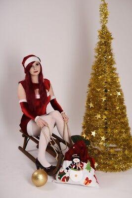 Weihnachtsmann Kostüm Erza Scarlet Cosplay Größe S/M (36)